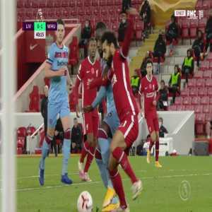 Liverpool [1] - 1 West Ham - Mohamed Salah penalty 42' + call
