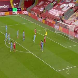 Liverpool [2] - 1 West Ham - Diogo Jota 85'