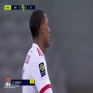 Marcelo (Lyon) second yellow card against Lille 50'