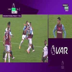 West Ham 1 - 0 Fulham - Lookman panenka miss (penalty) 90+8'