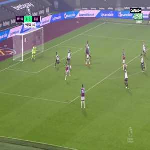West Ham [1] - 0 Fulham - Soucek 90+1'