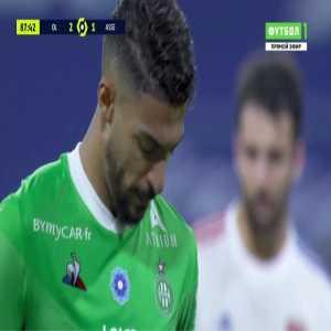 Denis Bouanga (Saint-Etienne) penalty miss against Lyon 89'