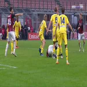 Zlatan Ibrahimovic penalty miss against Verona 66'