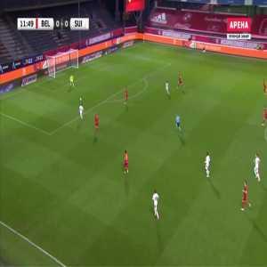 Belgium 0-1 Switzerland - Admir Mehmedi 13'