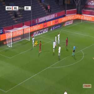 Belgium [1]-1 Switzerland - Michy Batshuayi 50'