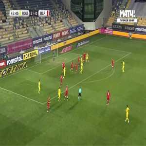 Romania 4-0 Belarus - George Puscas 44'