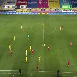 Romania 5-[2] Belarus - Ivan Bakhar 80'
