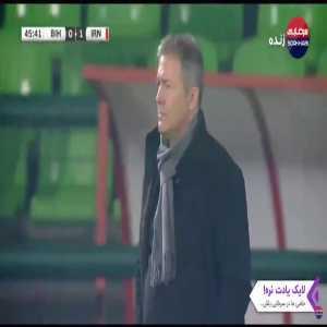 Bosnia and Herzegovina 0-[1] Iran: Kaveh Rezaei 46'