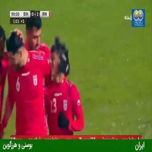 Bosnia and Herzegovina 0-[2] Iran: Mehdi Ghaedi 90'+1'
