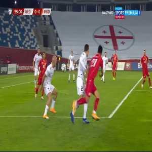 Georgia 0-1 North Macedonia - Goran Pandev 56'