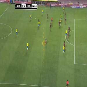 Brazil chance against Venezuela 33'