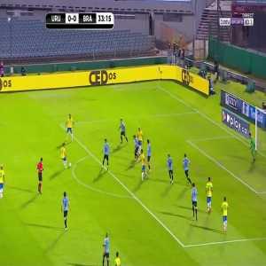Uruguay 0 - [1] Brazil - Arthur 34'