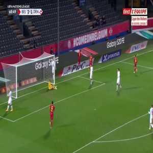 Belgium [3] - 1 Denmark - Romelu Lukaku 69'