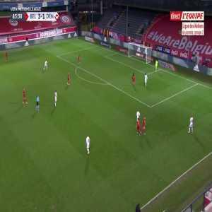 Belgium 3 - [2] Denmark - Thibaut Courtois mistake (Chadli OG) 87'