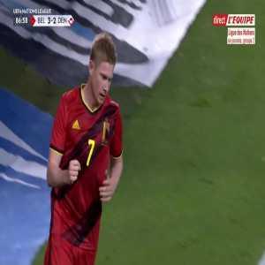 Belgium [4] - 2 Denmark - Kevin De Bruyne 87'