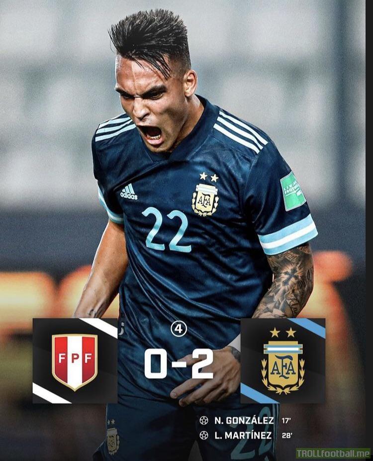 Ganó Argentina en Lima 2-0. Partido muy importante antes de la doble fecha Brazil/Uruguay