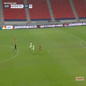Hungary 2-0 Turkey - Kevin Varga 90'+5'