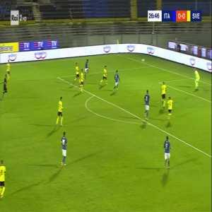 Italy U21 1-0 Sweden U21 - Youssef Maleh (great goal) 27'