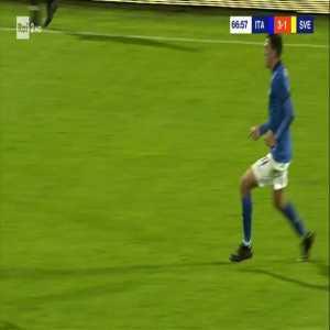 Italy U21 [4]-1 Sweden U21 - Gianluca Scamacca 67'