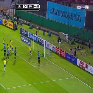 Uruguay 0 - [2] Brazil - Richarlison 45'
