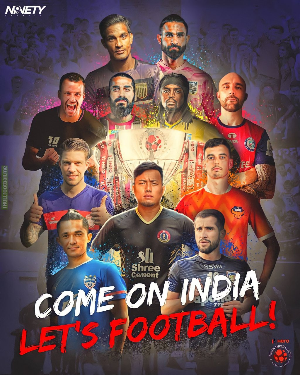 Indian Super League (ISL) starts today at 7:30 pm IST (2:00 pm GMT). The start of a season like no other! The most unique & the biggest thus far. This season promises to take Indian Football to a new direction. Hoping that the fans support ISL. Indian Football needs it.