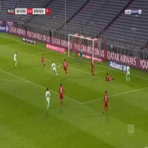 Bayern Munich 0-1 Bremen - Maximilian Eggestein 45'