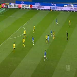 Hertha Berlin 1-0 Dortmund - Matheus Cunha 33'