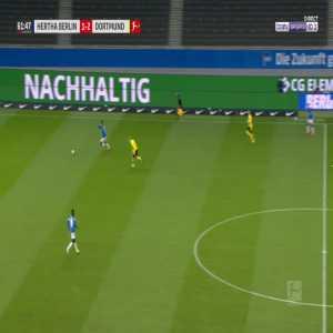 Hertha Berlin 1-[3] Dortmund - Erling Haaland 62'