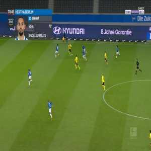 Hertha Berlin 2-[5] Dortmund - Erling Haaland 80'