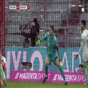 Manuel Neuer great double save against Werder Bremen