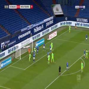 Schalke 0-1 Wolfsburg - Wout Weghorst 4'