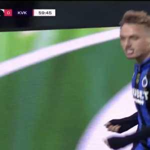 Club Brugge 1 - 0 KV Kortrijk - Noa Lang (bicycle kick)