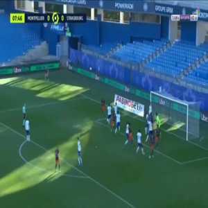Montpellier 1-0 Strasbourg - Pedro Mendes 8'