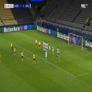 Dortmund 2-0 Club Brugge - Jadon Sancho free-kick 45'