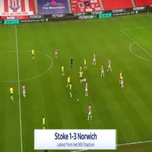 Emiliano Buendia (Norwich) second yellow card against Stoke 69'