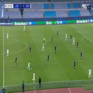 Lazio 2-[1] Zenit - Artem Dzyuba 25'
