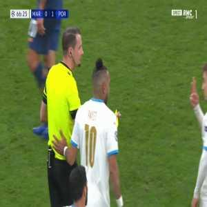 Marko Grujić (FC Porto) second yellow card against Marseille 67'