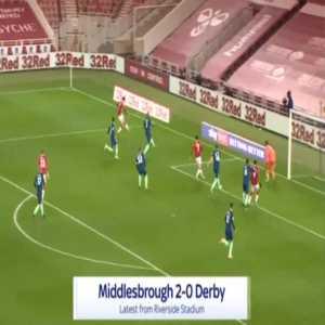 Middlesbrough 2-0 Derby - Matt Clarke OG 71'