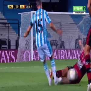 Thuler (Flamengo) straight red card against Racing Club 82'