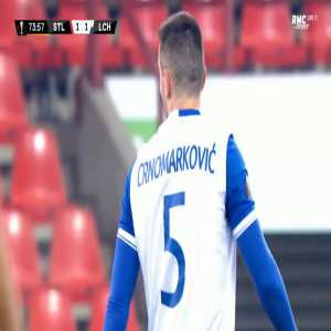 Djordje Crnomarkovic (Lech) second yellow card against Standard Liège 75'