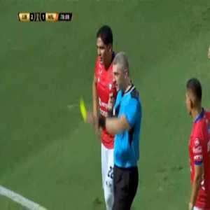 Ismael Benegas (Jorge Wilstermann) second yellow card against Libertad 79'