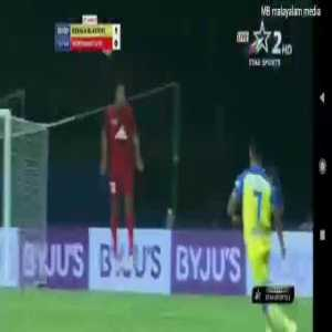 Kerala Blasters FC Vs North East United FC [1]-0 Sergio Cidoncha 6' (Indian Super League)