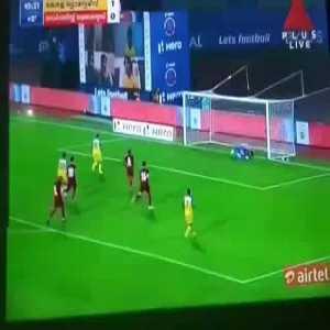 Kerala Blasters FC Vs North East United FC [2]-0 Gary Hooper 45+1' [P] (Indian Super League)