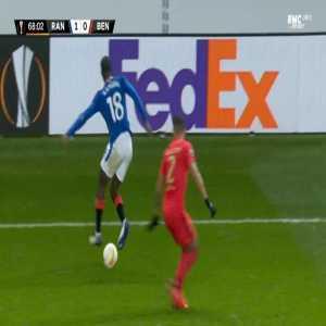 Rangers 2-0 Benfica - Kemar Roofe 69'