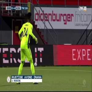 Highlights of goalkeeper Onana during Emmen-Ajax[0-5]