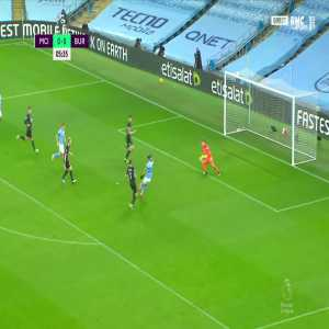 Manchester City [1] - 0 Burnley - Riyad Mahrez 6'