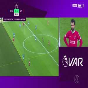 Mohamed Salah disallowed goal by VAR 36'