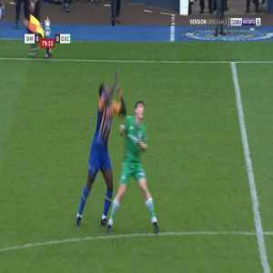 Aaron Pierre (Shrewsbury) and James Roberts (Oxford City) straight red cards 81'