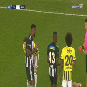Cyle Larin (Besiktas) second yellow card against Fenerbahce 50'