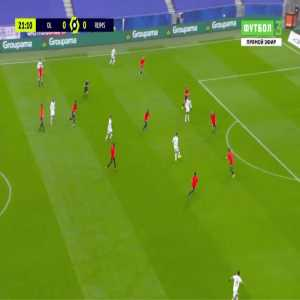 Lyon 1-0 Reims - Karl Toko Ekambi 22'